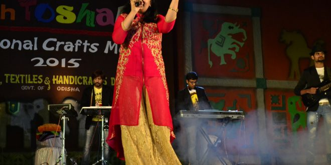 Ananya Nanda Performing in the 10th Toshali National Crafts Mela 2015 Odisha