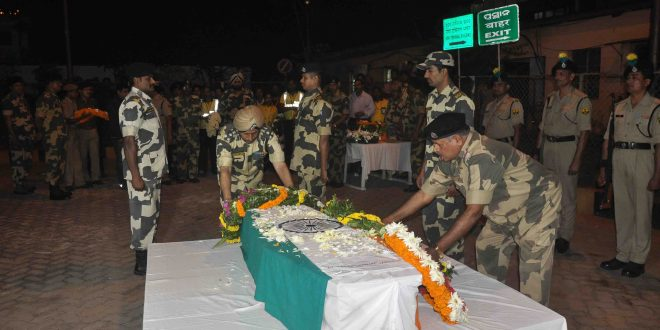 BSF Jawan Kishore Rout died in air crash - hist dead body