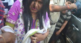 Monali sonalika - lady supporting Sarathi baba arrested for stealing fish in Odisha