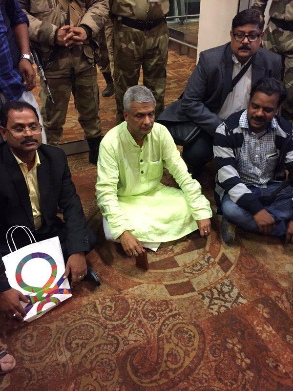 BJD MP Tathagat Satpathy protests VVIP culture
