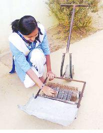 Lipsa Pradhan for inventing mahua flower collection machine