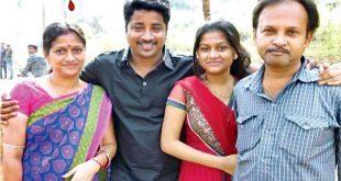 Odia actor Raja with Jessy's family