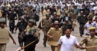 Police, teacher face off in Bhubaneswar