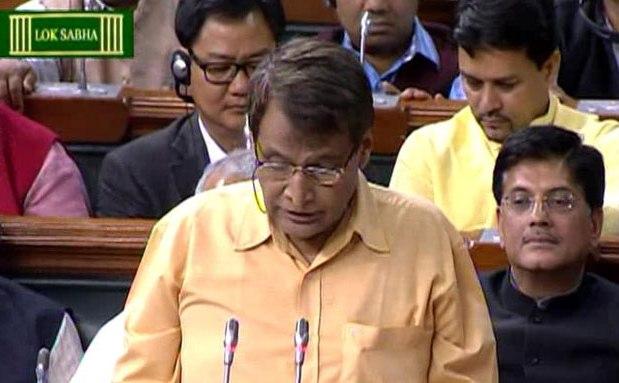 Suresh rabhu presents rail budget 2016-17