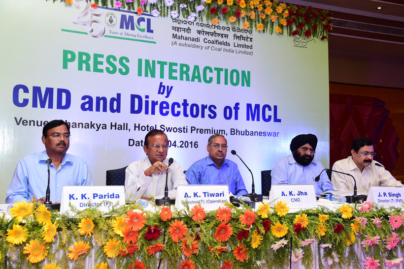 Press Interaction by CMD and Directors of MCL