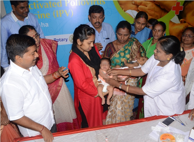 Inactivated Poliovirus Vaccine launched in Odisha