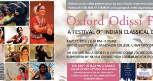 Oxford Odissi Fest On May 27