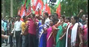 BJP, BJD stage demonstrations