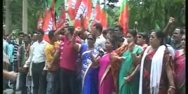 BJP, BJD stage demonstrations