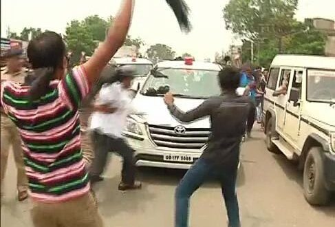 BJD Workers Throw Stones At Union Minister's Car; Several Detained