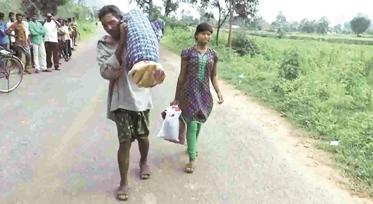 Clean Chit To Hospital Over Tribal Man Carrying Wife's Body On Shoulders