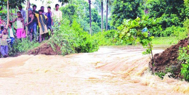 Subarnarekha, Budhabalanga Rivers Swelling