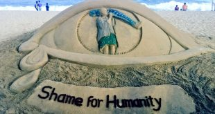Sudarsan's Sand Art On Dana Majhi With Message 'Shame For Humanity'