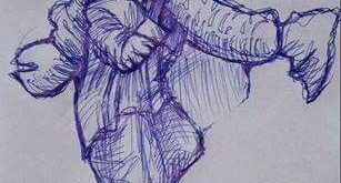 Sketch On Tribal Man Carrying Wife's Body Goes Viral