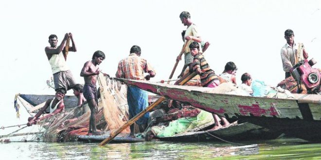 Illegal fishing Bhitarkanika National Park