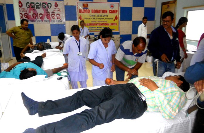 Utkal Alumina blood camp