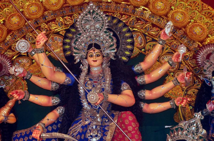 Durga idols immersion