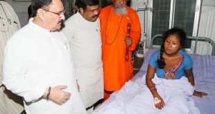 JP Nadda meets SUM hospital survivors