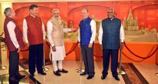 Sand art at BRICS summit