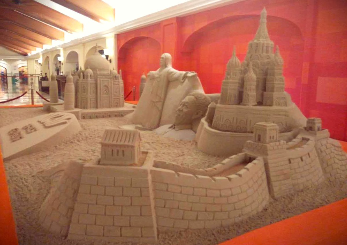 Sand art at BRICS summit