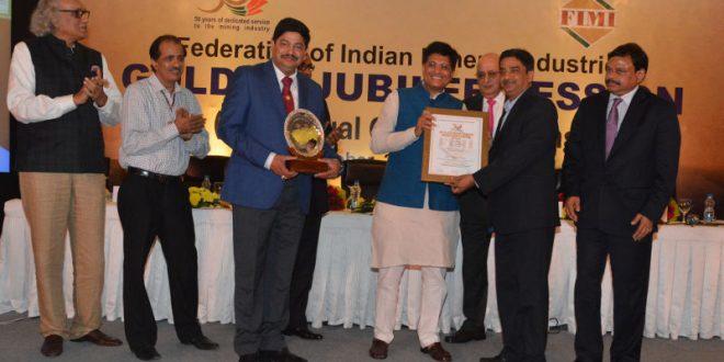 Tata Steel's Sukinda Chromite Mine Bags Bala Gulshan Tandon Excellence Award From FIMI