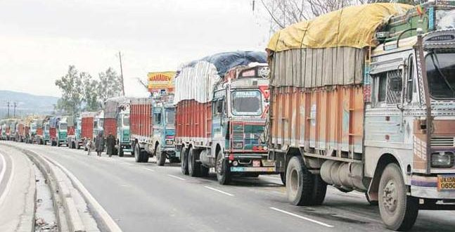Overloaded goods vehicles
