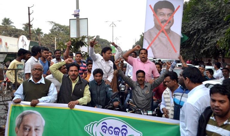 CBI raids on BJD leaders