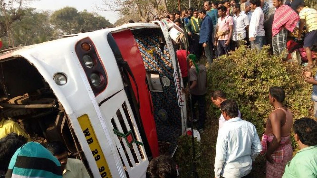 Dhauli bus accident: Over 40 West Bengal tourists injured at