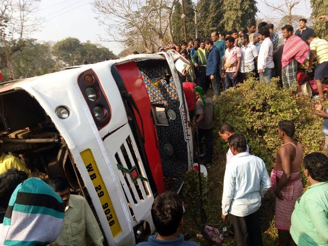 Dhauli bus accident