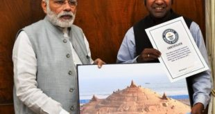 Modi praises Sudarsan for tallest sandcastle