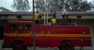 Fire at lime godown in Bhadrak