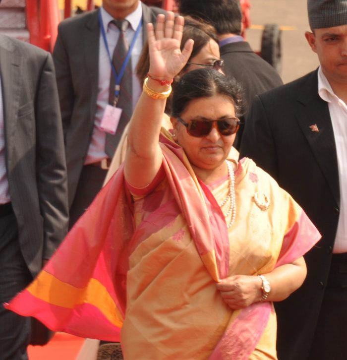 Nepal President visits Lingaraj Temple