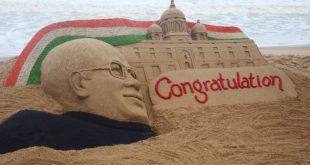 sand art on Ram Nath Kovind