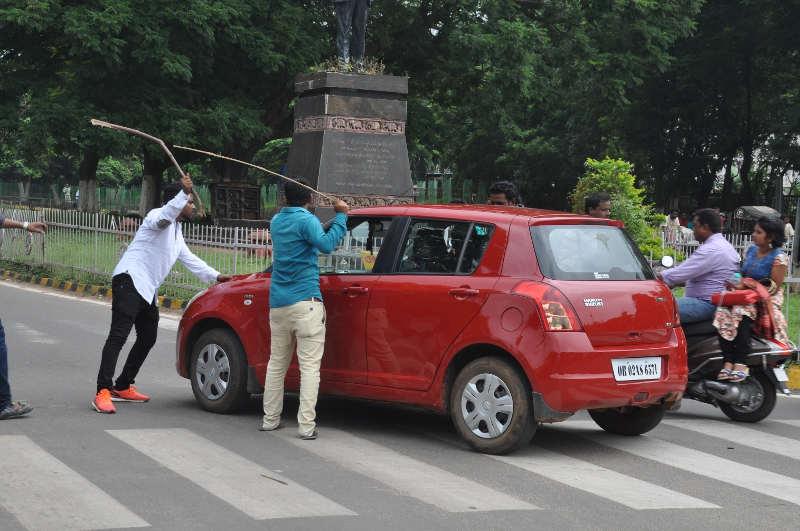 BJD protest on fuel price