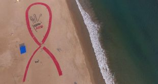 Red Ribbon sand art