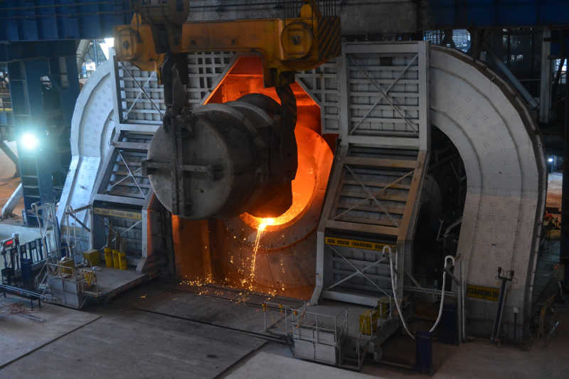 Basic Oxygen Furnace at Angul steel plant