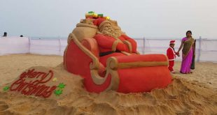 Sand Art Park by Manas Sahoo on Puri beach