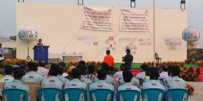 29th road safety week celebrated at Dhamra Port
