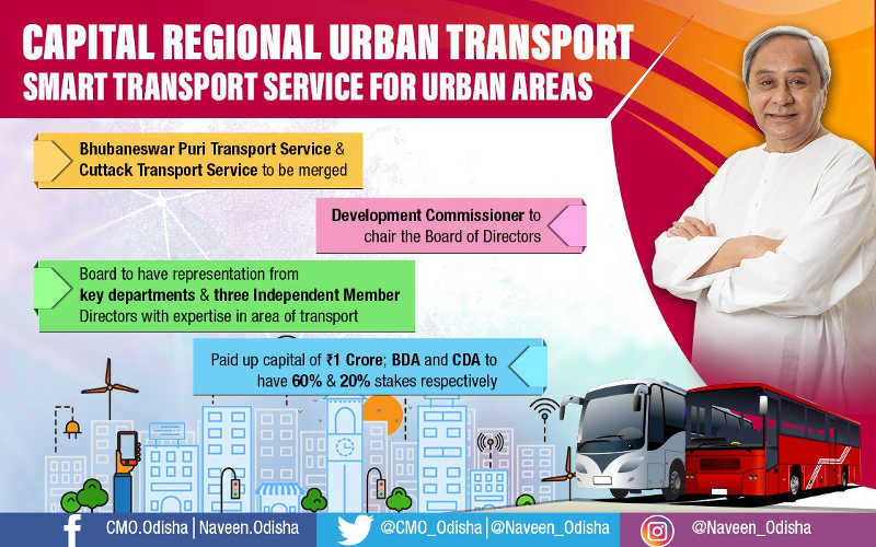Odisha govt approves Capital Region Urban Transport