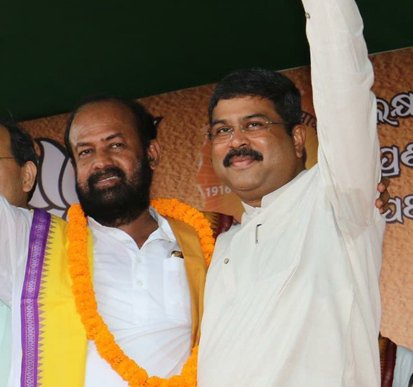 BJP candidate Ashok Panigrahi files nomination