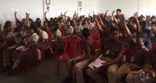 E-waste awareness program in school under Clean E-Bhubaneswar Project