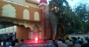 Fire breaks out at Handloom Expo in Bhubaneswar