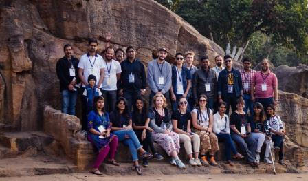 Students from Australia, France at 11th Monks, Caves and Kings at Twin Hills