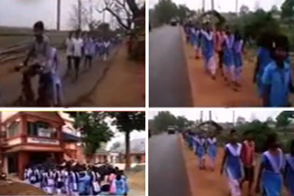 Students walk 18 km to meet Sub-Collector in Mayurbhanj