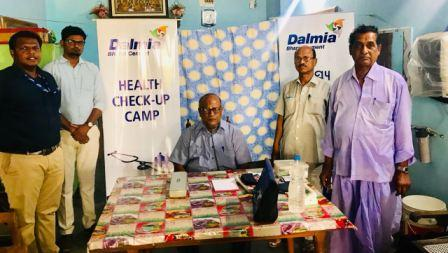 Dalmia Cement organises health camp for masons