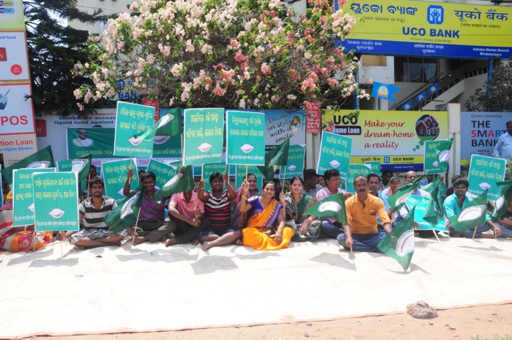 BJD stages 2-hour protest over cash crunch in ATMs