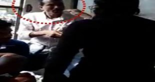Girl thrashes man with sandals for misbehaving with her in moving bus