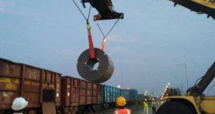 Steel handling at Dhamra Port commences