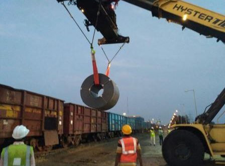 Steel handling at Dhamra Port commences
