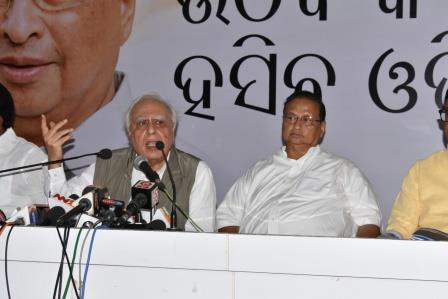 Sibal attacks BJP ahead of Modi's visit to Odisha